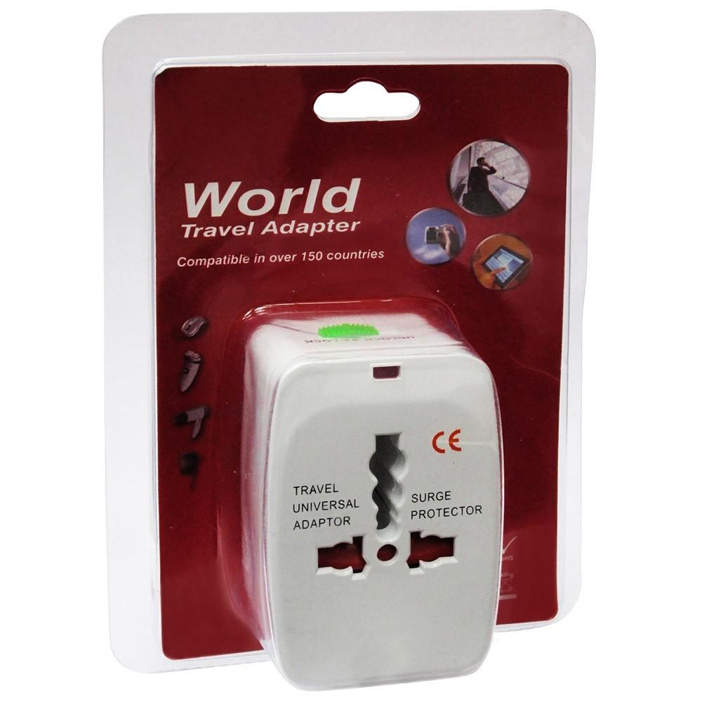 21-EUV-5023 Adaptador de enchufes universal de viaje con toma USB incorporada