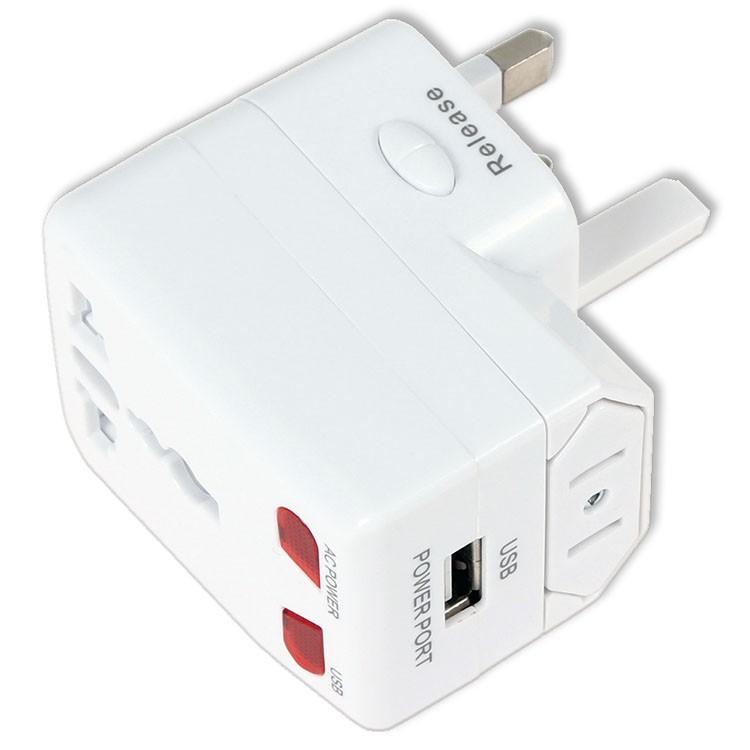 Adaptador universal de clavijas de enchufe y conversor a toma USB