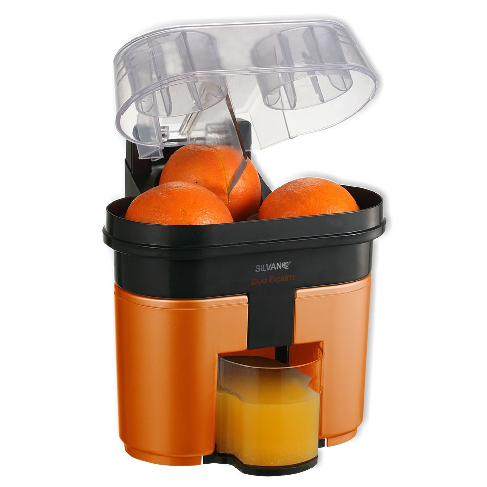 34-TCJ-131 Exprimidor eléctrico con cortador y doble cono de exprimido | Color naranja