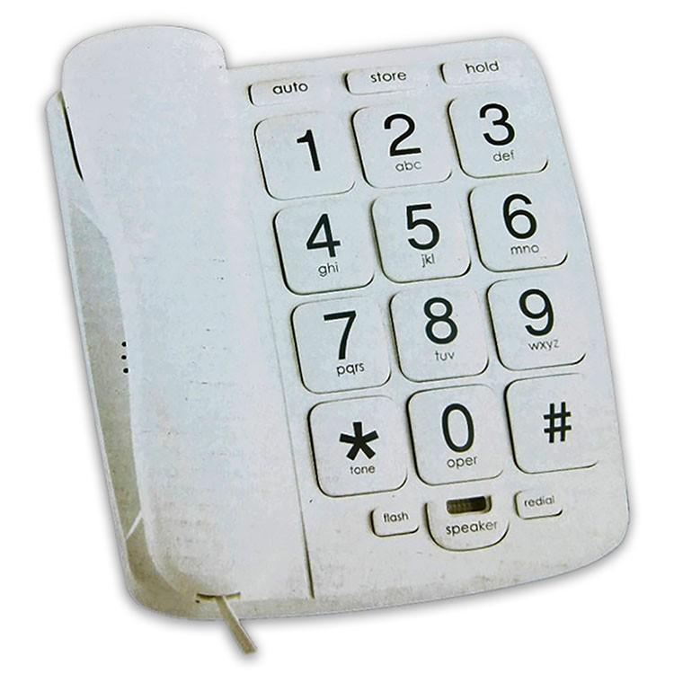 Teléfono fijo de teclas extra grandes con altavoz SL-431