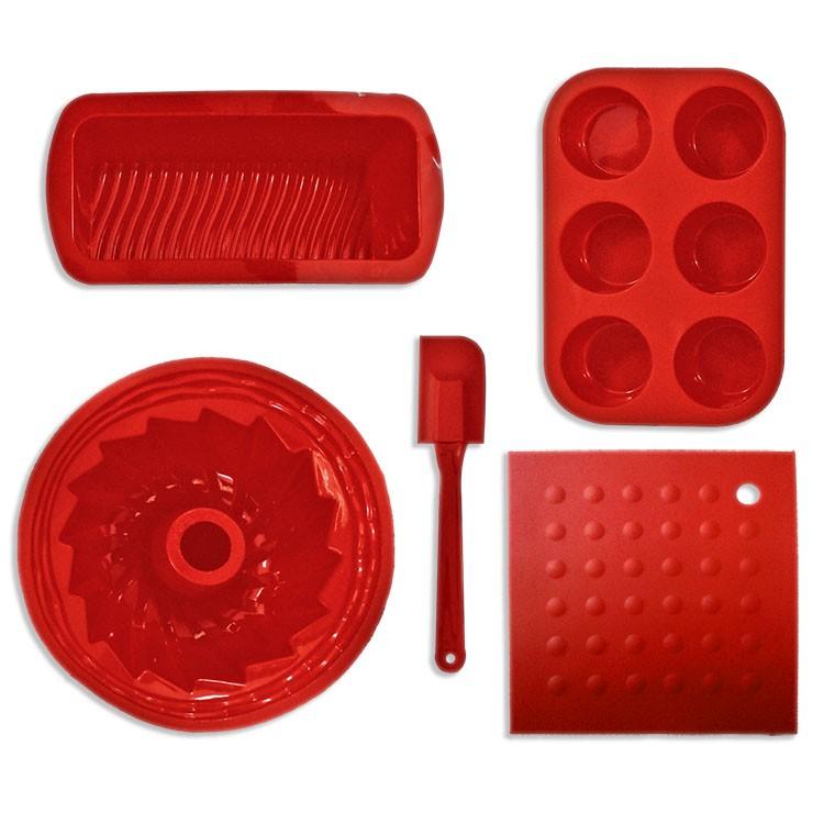 Moldes de reposter a de silicona para el horno 5 piezas cronos imports s l - Silicona para microondas ...