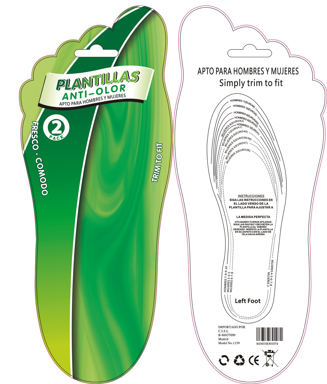 Plantillas anti-olor