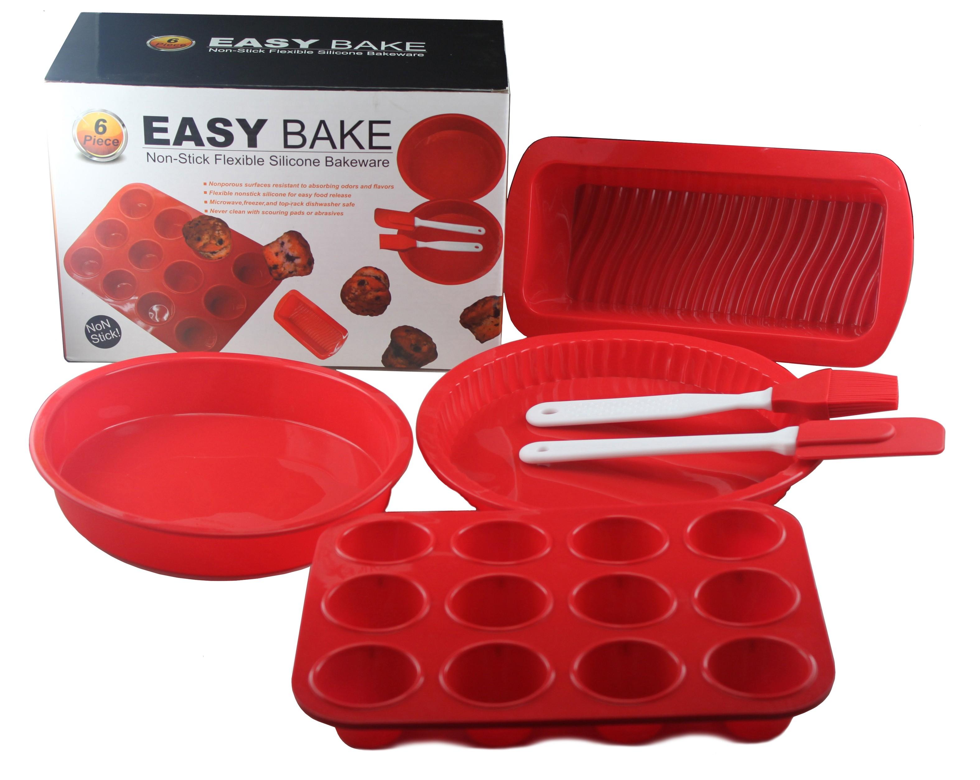 Juego de 6 moldes de silicona / Easy Bake