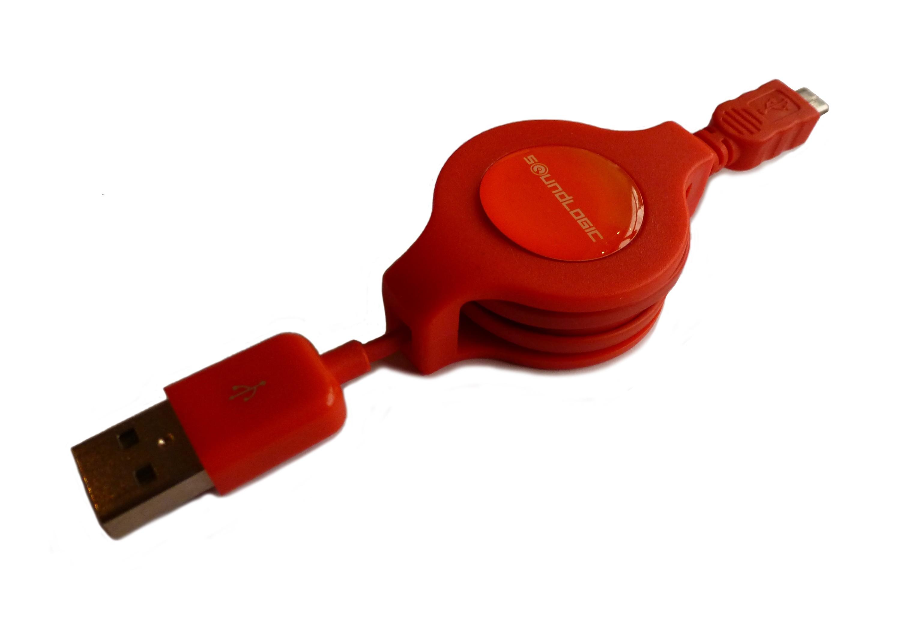Cable retráctil Micro USB