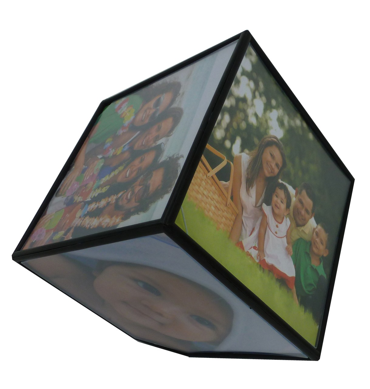 Cubo de fotos giratorio