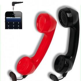 Auricular con micrófono para teléfonos móviles y ordenador | Diseño forma teléfono fijo retro