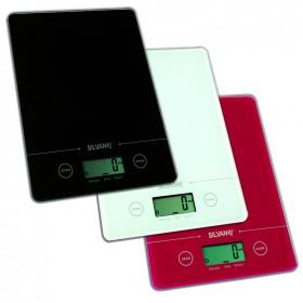 Báscula de cocina digital extra fina con forma rectangular