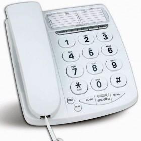 Teléfono fijo de teclas extra grandes con altavoz