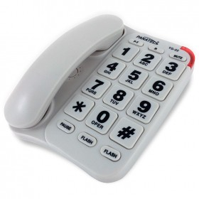 Teléfono fijo básico de teclas grandes