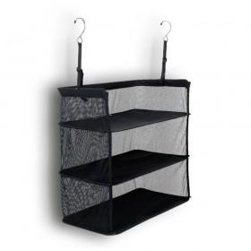 Estantería de tela de 3 baldas plegable para maleta y armario
