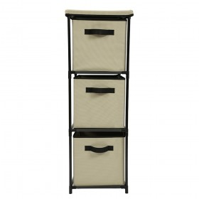 Mueble cajonera vertical | Torre de cubos beige